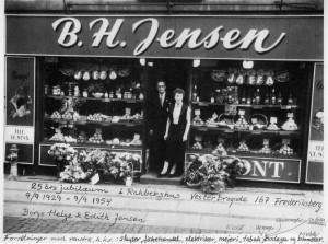 B.H.Jensens grøntforretning fejrer 25-års jubilæum 9.9.1954